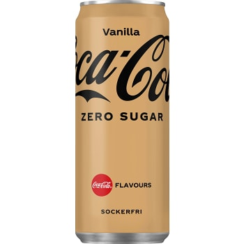 Läsk Vanilj Zero 33cl Coca-Cola