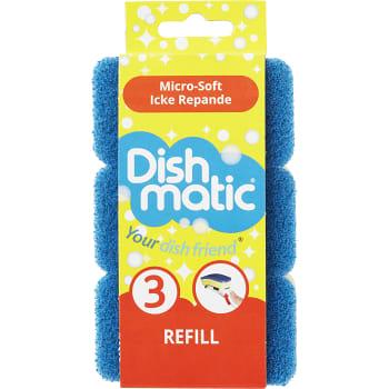 Diskborste Refill Blå 3-p Dishmatic