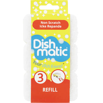 Diskborste Refill Vit 3-p Dishmatic