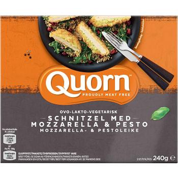 Schnitzel med Mozzarella & pesto Fryst 2-p 240g Quorn