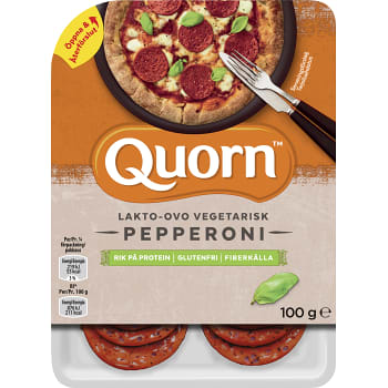Pepperoni Vegetarisk Glutenfri 100g Quorn