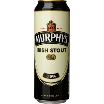 Öl Irish stout 3,5% 50cl Murphy's