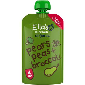 Broccoli päron & ärter Från 4m Ekologisk 120g Ellas Kitchen