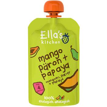 Mango päron & papaya Från 4m Ekologisk 120g Ellas Kitchen