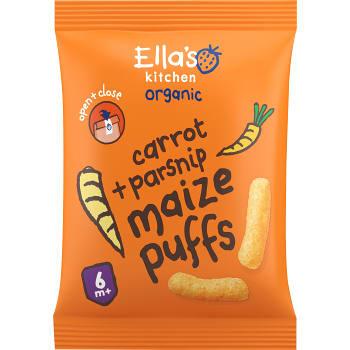 Majspuffar Morot & palsternacka Ekologisk 20g Ellas Kitchen