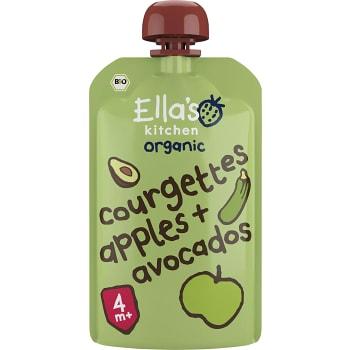 Mellanmål Klämmis Zucchini äpple & avocado 4mån Ekologisk 120g Ellas Kitchen