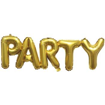Folieballong Party Guld