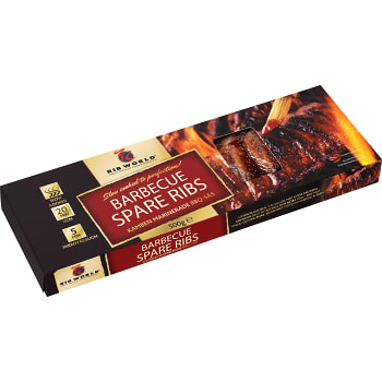 BBQ spare ribs 500g Rib World