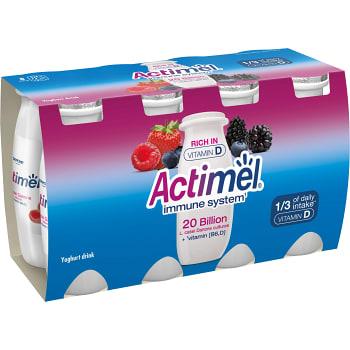 Yoghurtshot Skogsbär 8-p 800g Actimel
