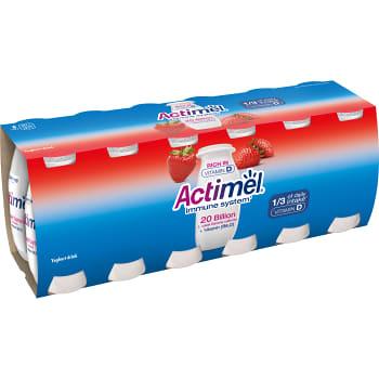Yoghurtshot Jordgubb 12-p 1200g Actimel