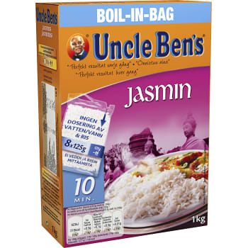 Boil in bag Jasminris 1kg Uncle Bens