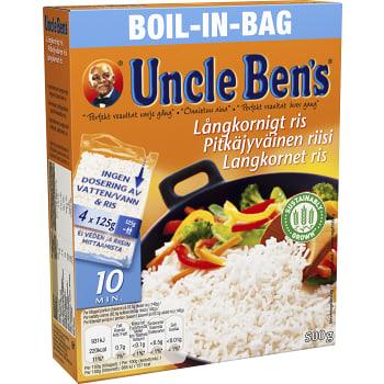Boil in bag Långkornigt Ris 500g Uncle Bens