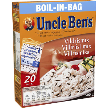 Boil in bag Vildrismix 500g Uncle Bens
