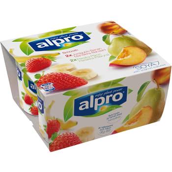 Yoghurt Jordgubb banan & päron 4-p 500g Alpro