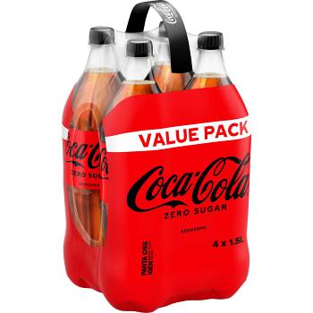 Läsk Coca-Cola Zero 1,5l 4-p