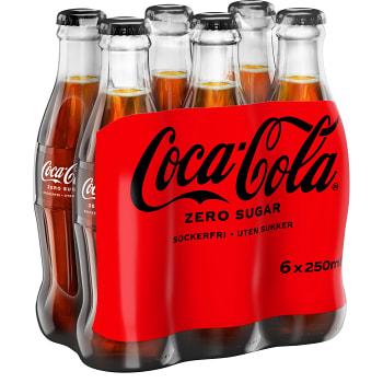 Läsk Coca Cola Zero 25cl 6-p