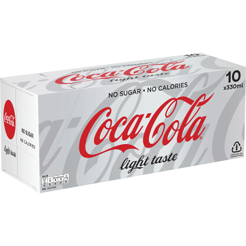 Läsk Light 10-p Coca-Cola