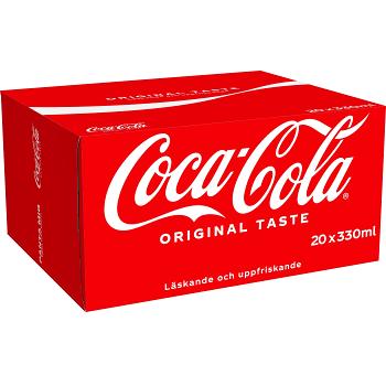 Läsk 33cl 20-p Coca-Cola