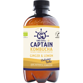 Kombucha Ginger Lemon 400ml Captain Kombucha