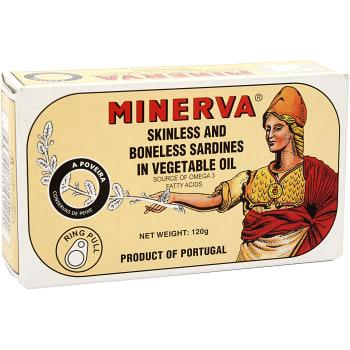 Sardiner i vegetabilisk olja 120g Minerva