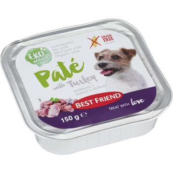 Hundmat Paté med kalkon Ekologisk 150g Best friend