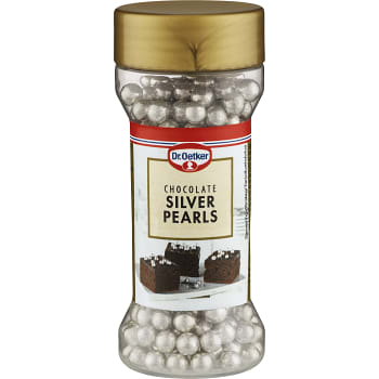 Bakdekoration Silver pearls Chocolate 52g Dr. Oetker