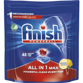 Maskindisktablett All in1 Max Citron 48-p Miljömärkt Finish