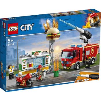 City Brandkårsutryckning till hamburgerrestaurang 60214 LEGO
