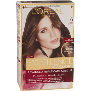Hårfärg 6 Mörkblond 1-p Excellence