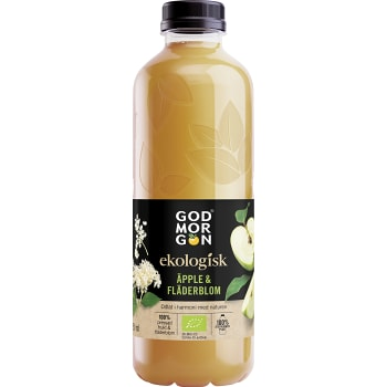 Juice Apple & Elderflower Ekologisk 850ml God morgon