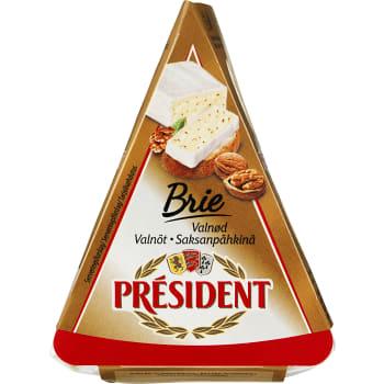 Dessertost Brie Valnöt 125g President