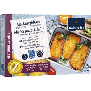 Panerad fiskfilé Alaska pollock Fryst Glutenfri 230g Royal Greenland
