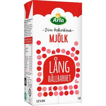 Mjölk Lång hållbarhet 3% 5dl Arla