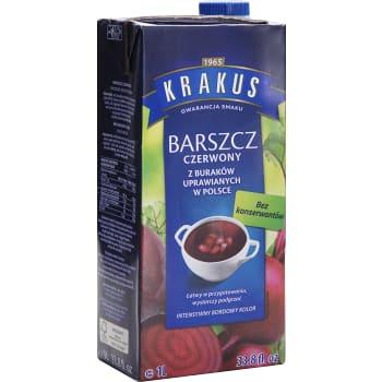 Röd Borsch Soppa 1l Krakus