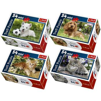 Pussel Mini Cute pets 54 bitar Trefl