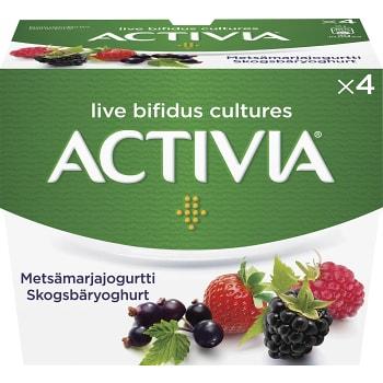 Yoghurt Skogsbär 125g 4-p Activia