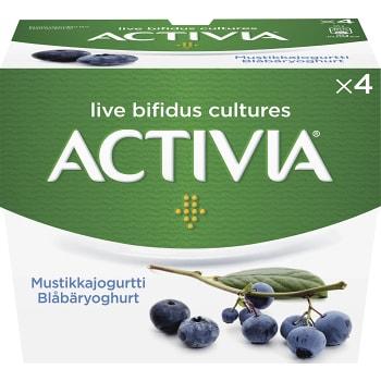 Yoghurt Blåbär 125g 4-p Activia