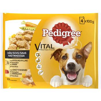 Hundmat Blandade smaker Adult 4-p 400g Pedigree