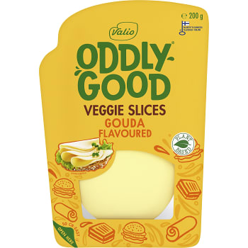 Pålägg Oddlygood Veggie slices Vegetarisk 200g Valio