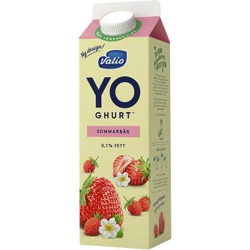 Yoghurt Sommarbär 0,1% 1000g Valio