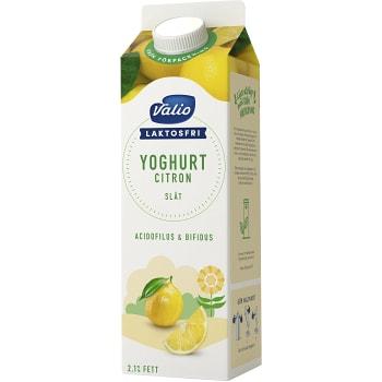 Fruktyoghurt Citron utan fruktbitar Laktosfri 2,1% 1l Valio Eila