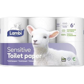 Toalettpapper Sensitive 6-p Lambi