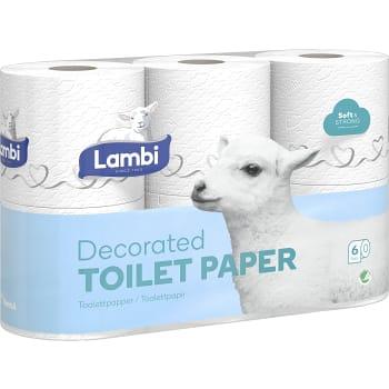Toalettpapper Mjukt med dekor 6-p Lambi