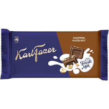 Chokladkaka Hackad Hasselnöt 145g Fazer