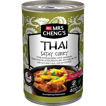 Grytbas Thai satay curry Medium 400ml Mrs Chengs