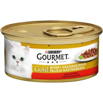 Kattmat Oxkött i Sås 85g Gourmet Gold