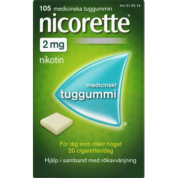 Nicorette Medicinskt tuggummi 2mg 105-p