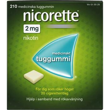 Nicorette Medicinskt tuggummi 2mg 210-p