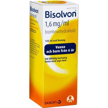 Bisolvon Oral lösning 1,6mg/ml 125ml