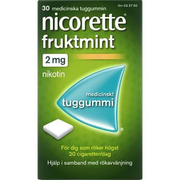 Fruktmint Medicinskt tuggummi 2mg 30-p Nicorette
